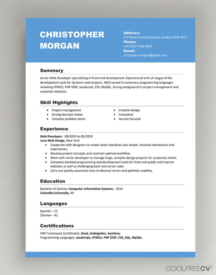 cv resume templates examples word format template planning skills for japanese the most Resume Resume Format Template Word
