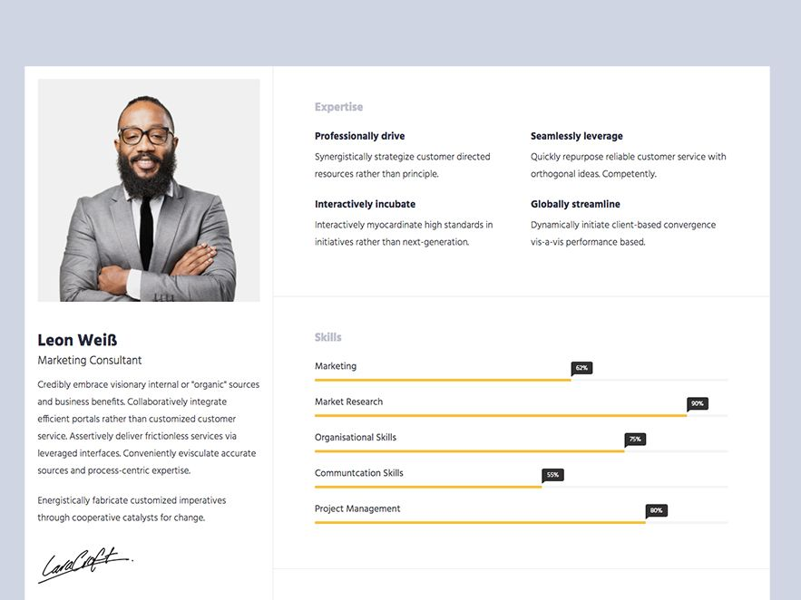 cv template bootstrap resume free portfolio easy professional dental assistant examples Resume Resume Portfolio Template Free