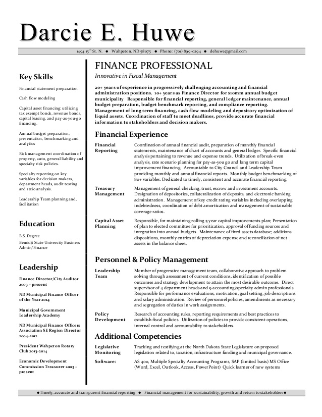 darcie huwe financial analyst resume finance skills on chief learning officer advanced Resume Finance Skills On A Resume