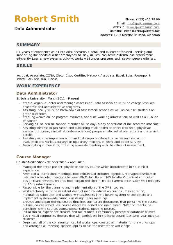 data administrator resume samples qwikresume sharepoint pdf occupational therapy format Resume Sharepoint Administrator Resume