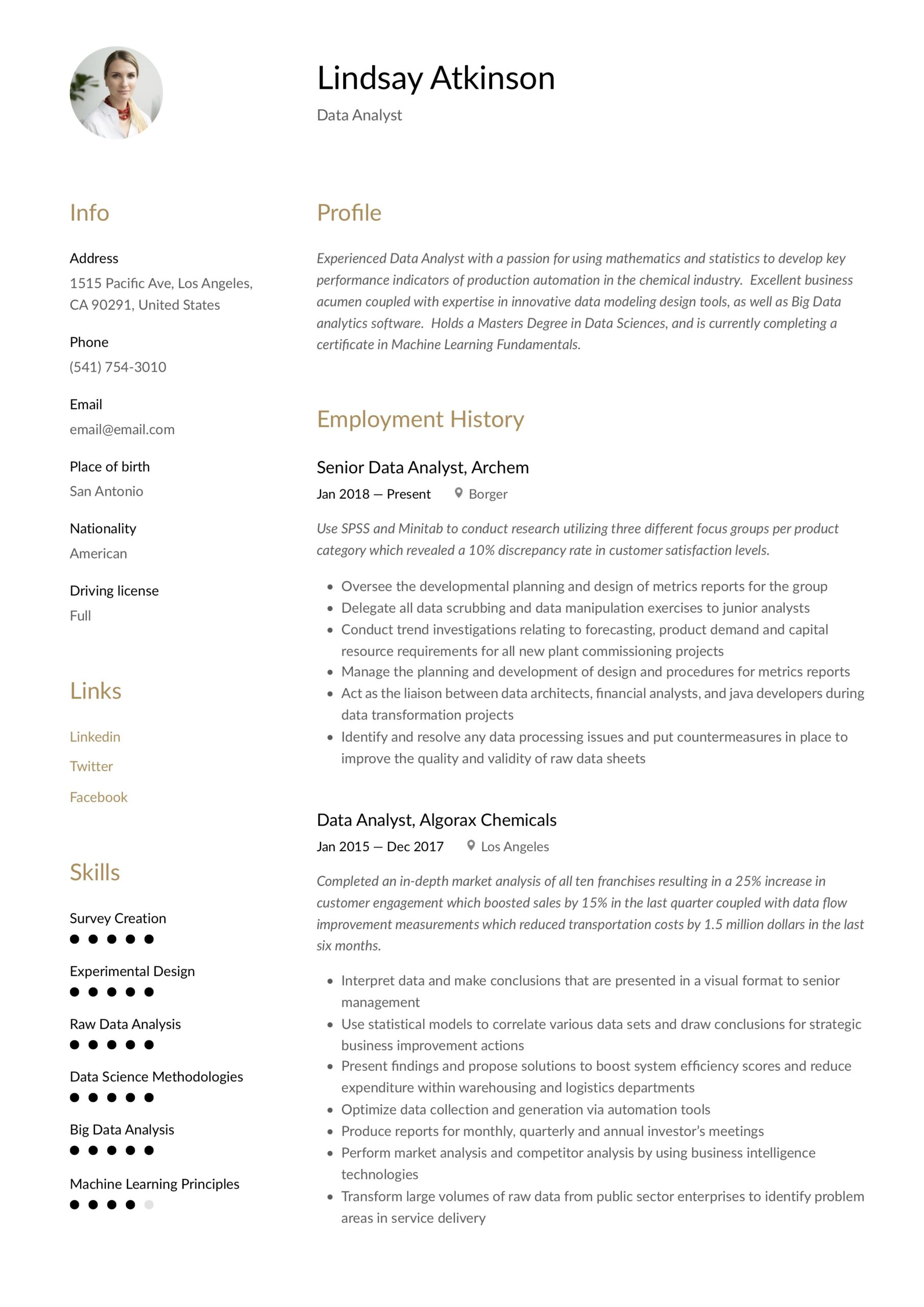 data analyst resume writing guide examples word pdf modeling points painting supervisor Resume Data Modeling Resume Points