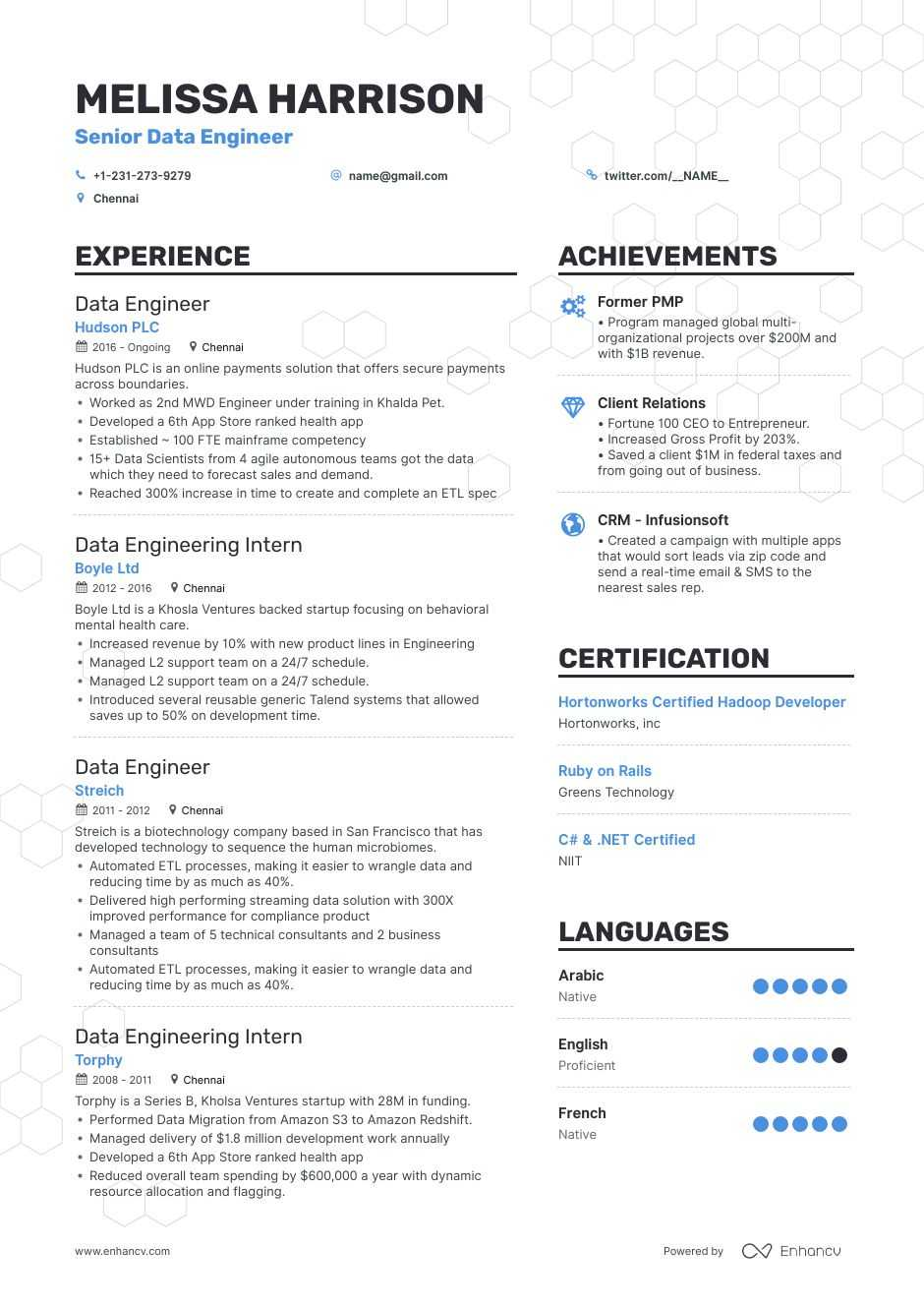 data engineer resume examples do and don ts for enhancv software purdue owl objective Resume Software Engineer Resume 2020