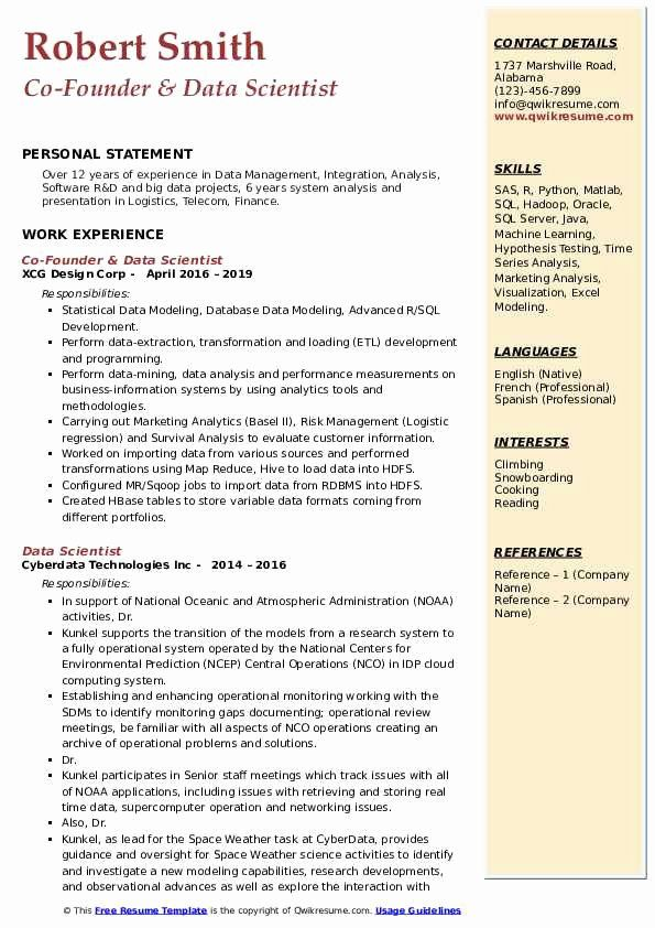 data science resume examples lovely scientist samples example guidewire testing aerospace Resume Data Science Resume Example