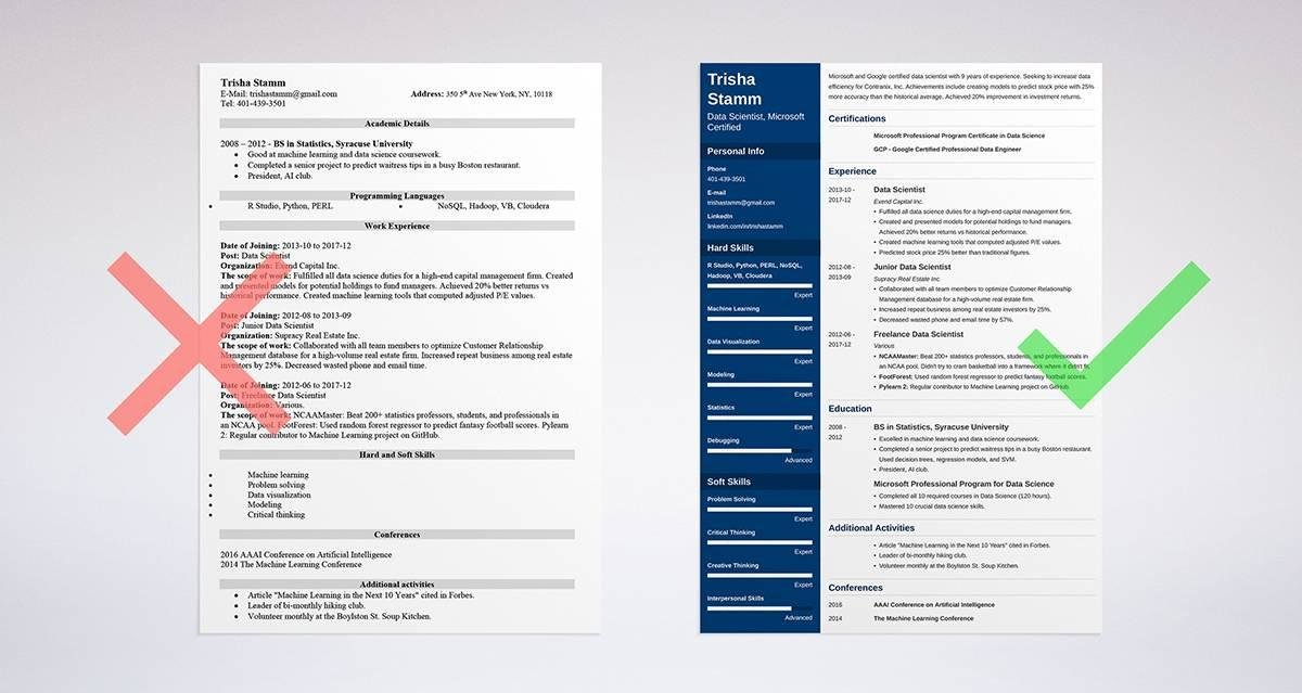 data scientist resume sample template driven guide import export coordinator payday loan Resume Resume Data Scientist Template