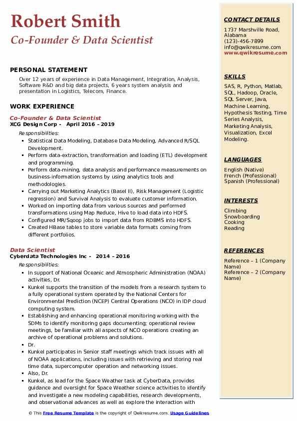 data scientist resume samples qwikresume template pdf human services examples hobby lobby Resume Resume Data Scientist Template