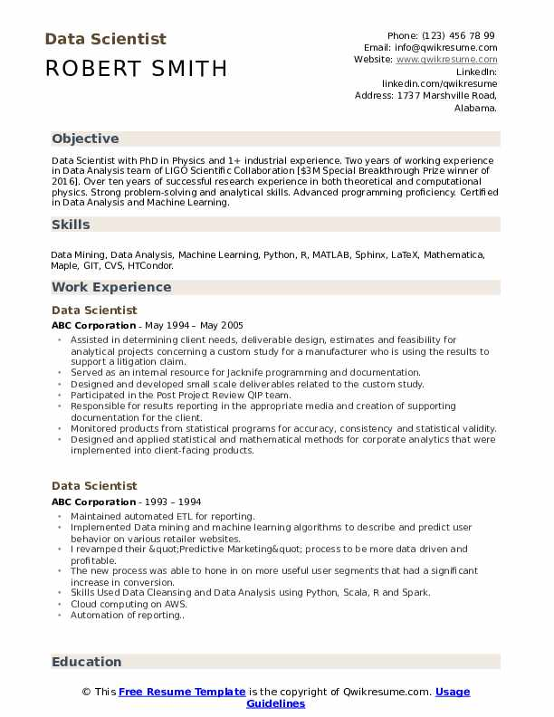 data scientist resume samples qwikresume template pdf payday loan examples and selection Resume Resume Data Scientist Template