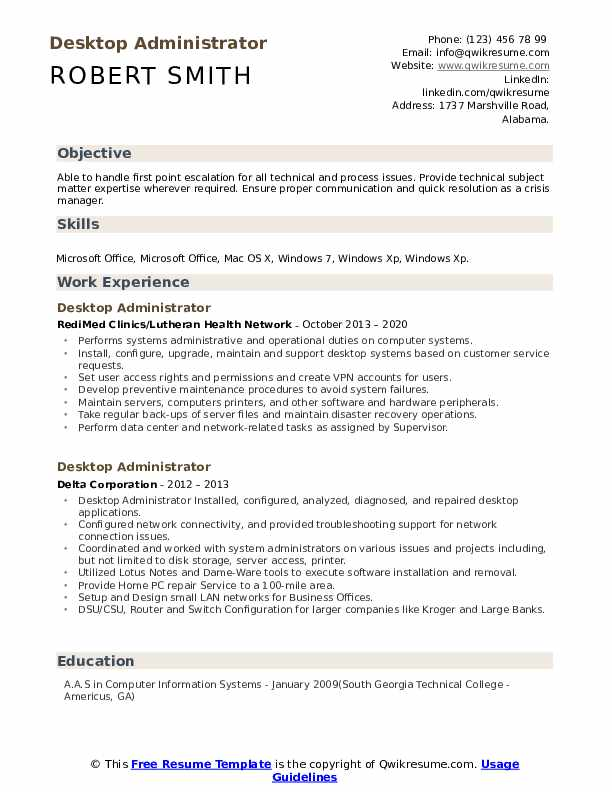 desktop administrator resume samples qwikresume pdf email content campaign director Resume Desktop Administrator Resume