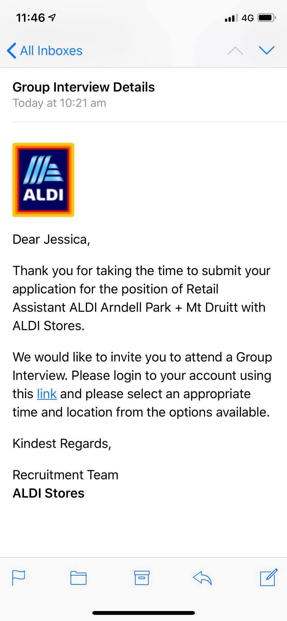 determined teen refuses to accept job rejection and aldi invites her back in for an Resume Aldi Resume Application