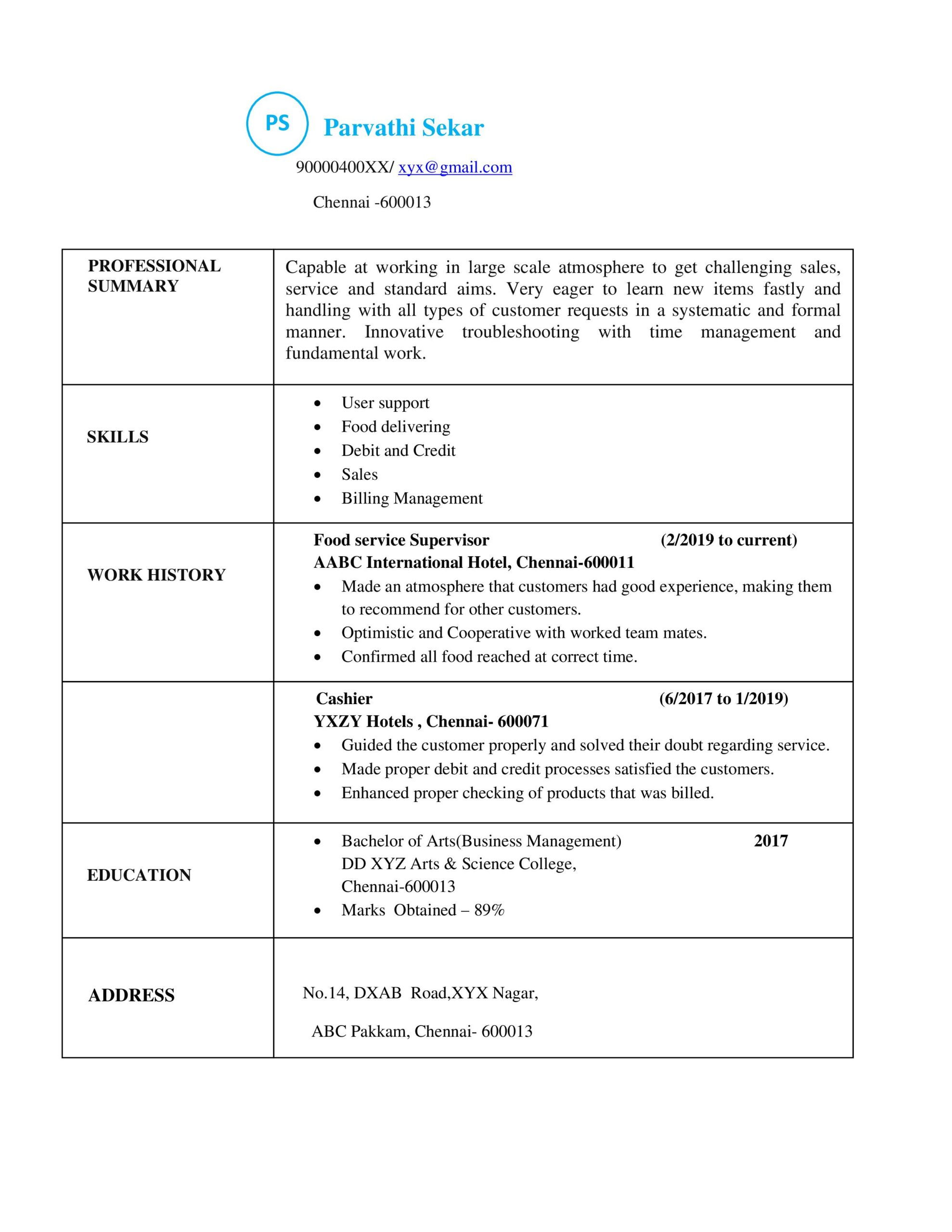different types of resumes resume formats sample models for voice process experience Resume Resume For Voice Process
