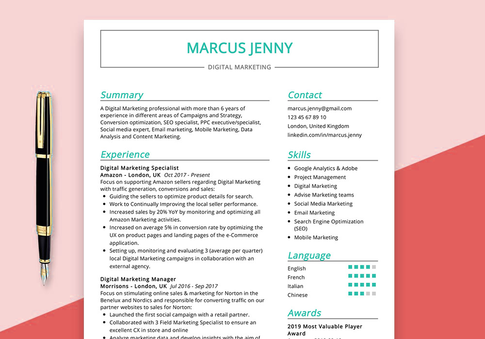 digital marketing resume example maxresumes sample awesome examples clerical skills for Resume Digital Marketing Resume Sample