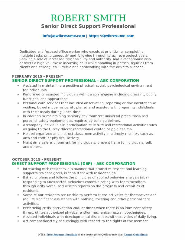 direct support professional resume samples qwikresume template pdf design summary on Resume Direct Support Professional Resume Template