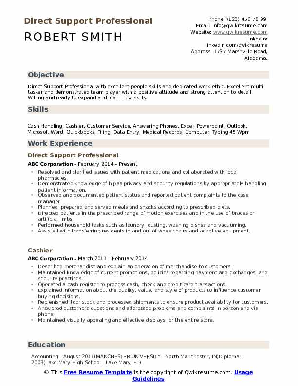 direct support professional resume samples qwikresume template pdf format fashion Resume Direct Support Professional Resume Template