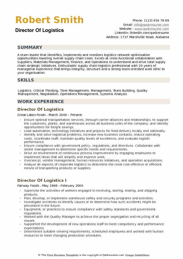 director of logistics resume samples qwikresume operations pdf simple format for Resume Logistics Operations Resume