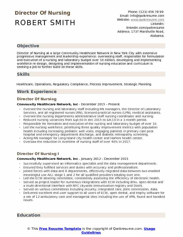 director of nursing resume samples qwikresume examples pdf multiple promotions on police Resume David Careers Resume Review