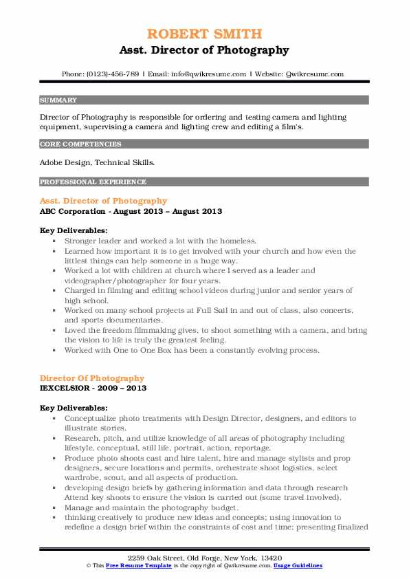director of photography resume samples qwikresume pdf administrative assistant objective Resume Director Of Photography Resume