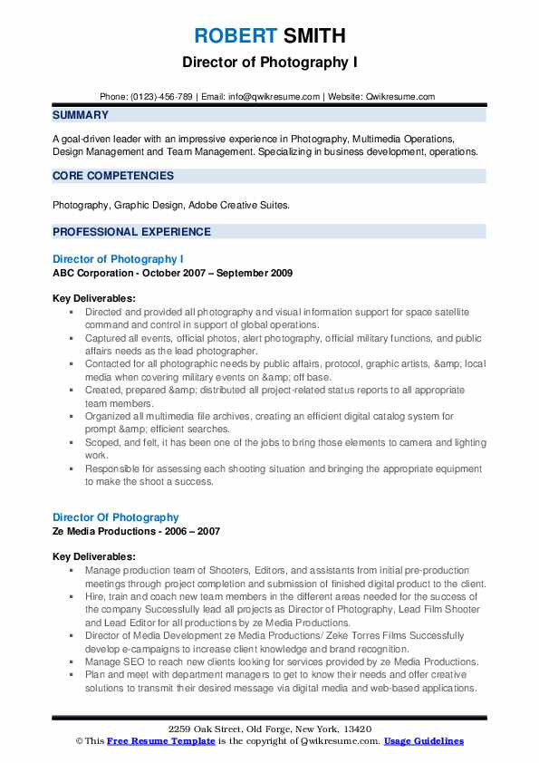 director of photography resume samples qwikresume pdf cover letter for nanny volunteering Resume Director Of Photography Resume
