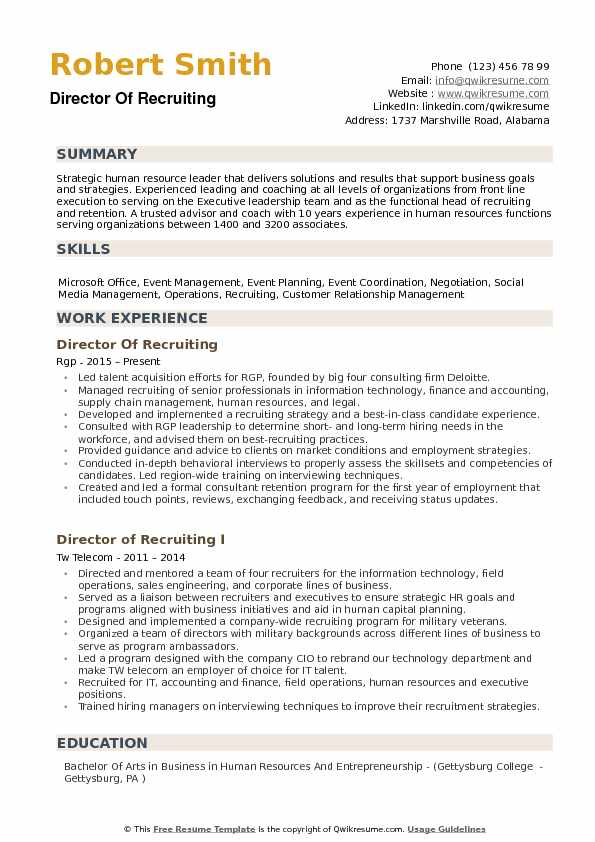 director of recruiting resume samples qwikresume talent acquisition pdf descriptive words Resume Director Of Talent Acquisition Resume