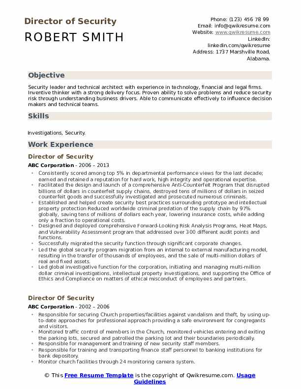 director of security resume samples qwikresume pdf powerful summary examples fine dining Resume Security Director Resume