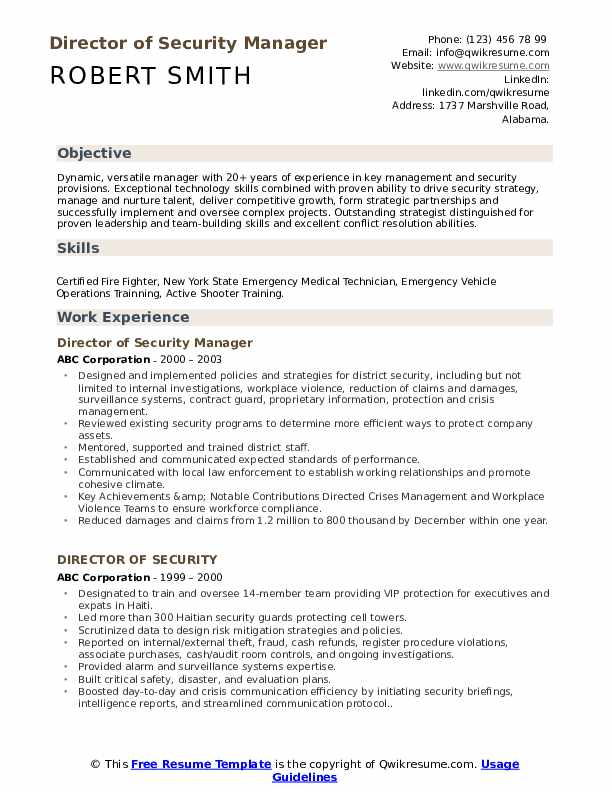 director of security resume samples qwikresume pdf residential counselor thank you letter Resume Security Director Resume