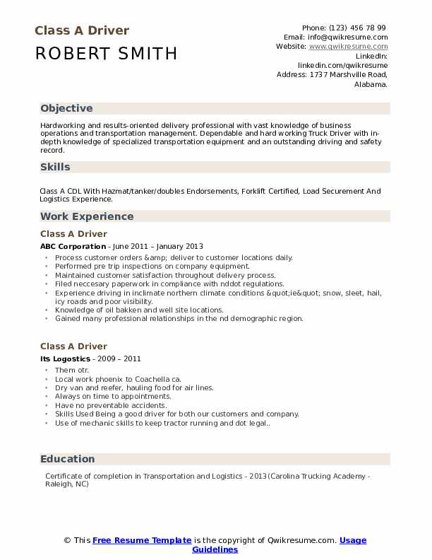 driver resume samples qwikresume trucking objective pdf doctor template word order of Resume Trucking Resume Objective