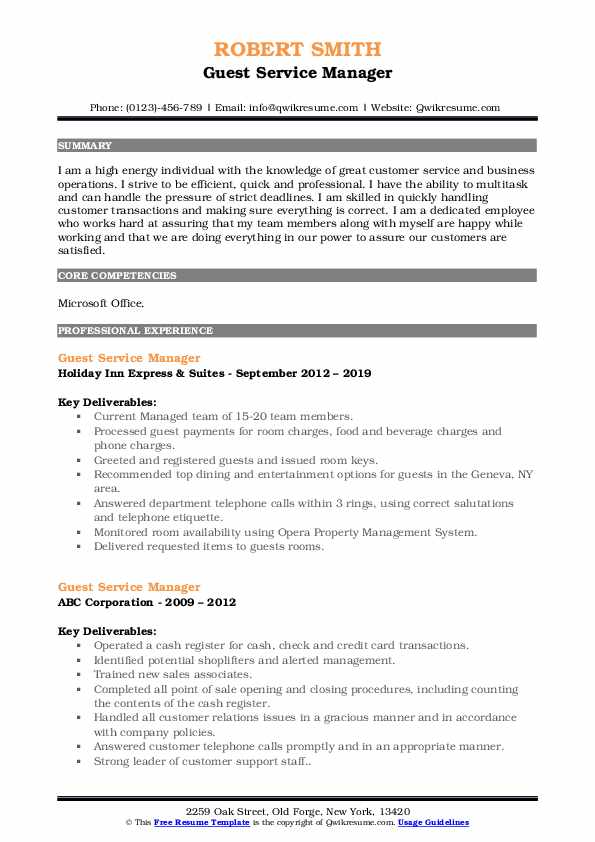 dude ranch manager resume february workamper template guest service pdf for cable Resume Workamper Resume Template