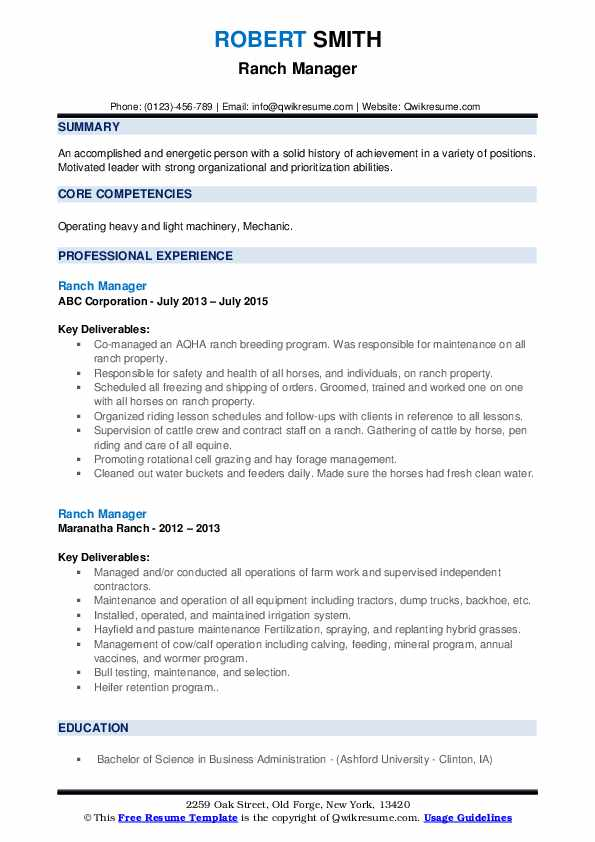 dude ranch manager resume february workamper template pdf healthcare administration Resume Workamper Resume Template