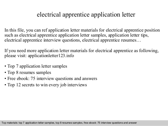 electrical apprentice application letter resume objective free printable sample templates Resume Electrical Apprentice Resume Objective
