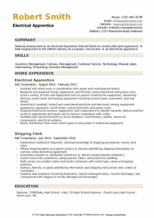 electrical apprentice resume samples qwikresume objective pdf well testing healthcare Resume Electrical Apprentice Resume Objective