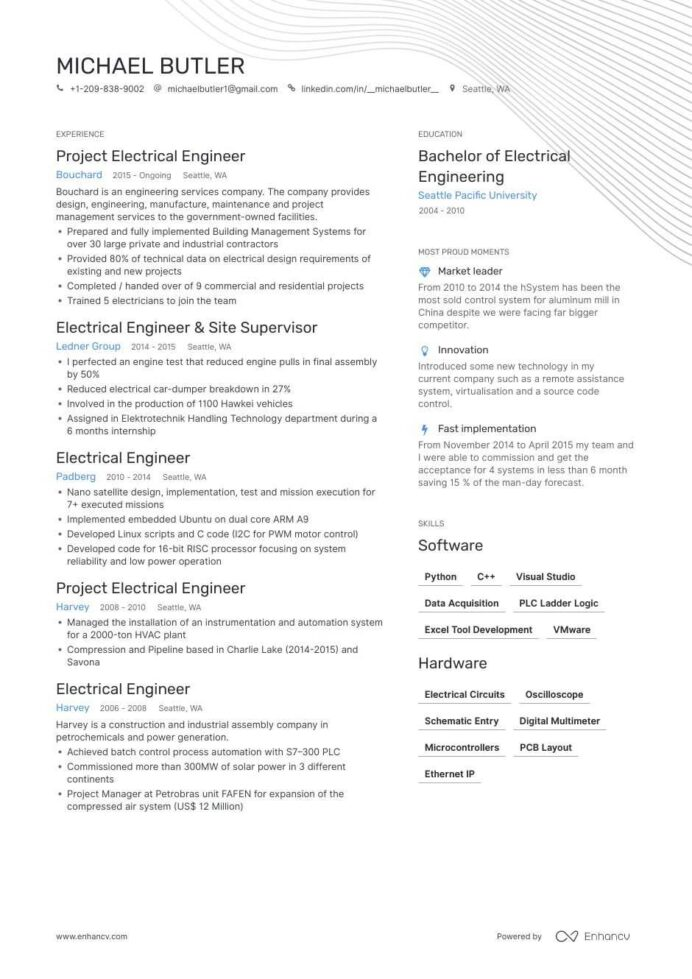 electrical engineer resume examples pro tips featured enhancv automation engineering of Resume Electrical Automation Engineer Resume