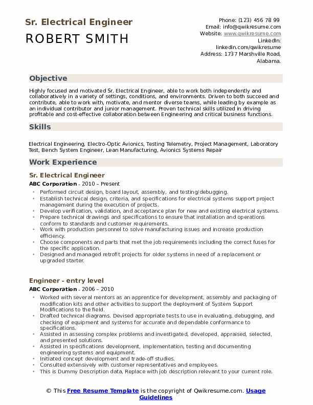 electrical engineer resume samples qwikresume technical skills for pdf project manager Resume Technical Skills For Electrical Engineer Resume