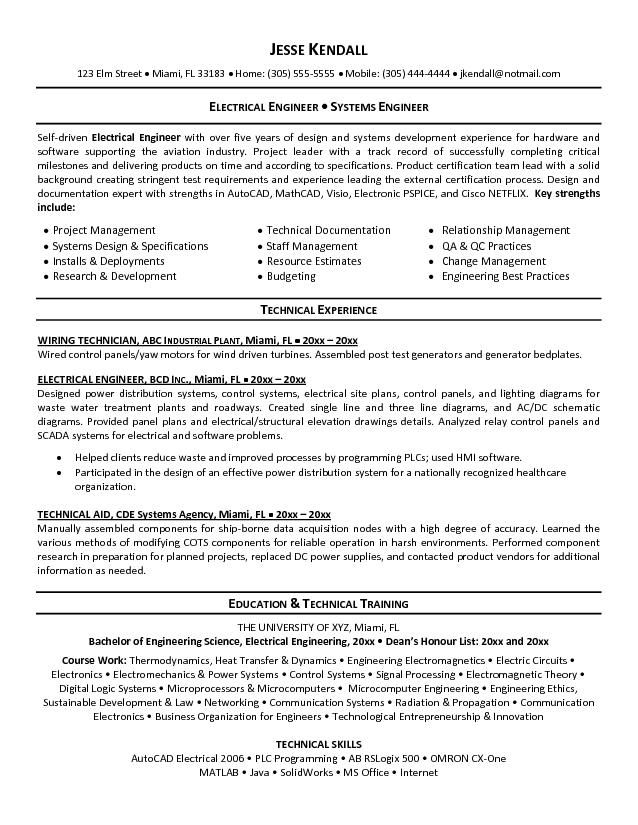 electrical engineering cv objective resume builder templates sample for technical Resume Objective For Technical Resume