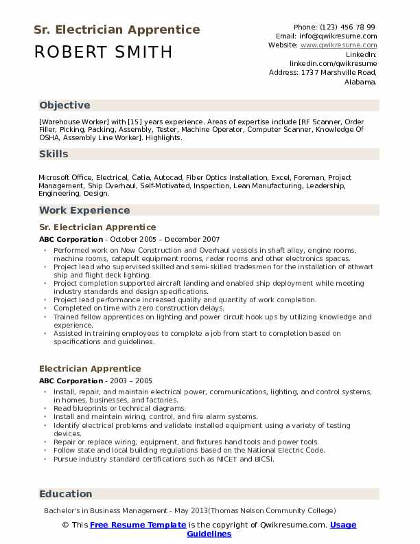 electrician apprentice resume samples qwikresume electrical objective pdf barman perform Resume Electrical Apprentice Resume Objective