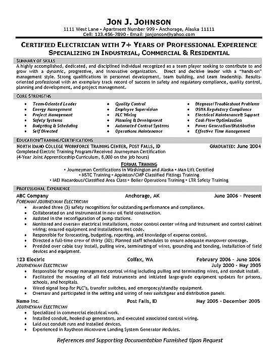 electrician foreman resume examples good sample objective statement microsoft word free Resume Electrician Resume Objective Statement