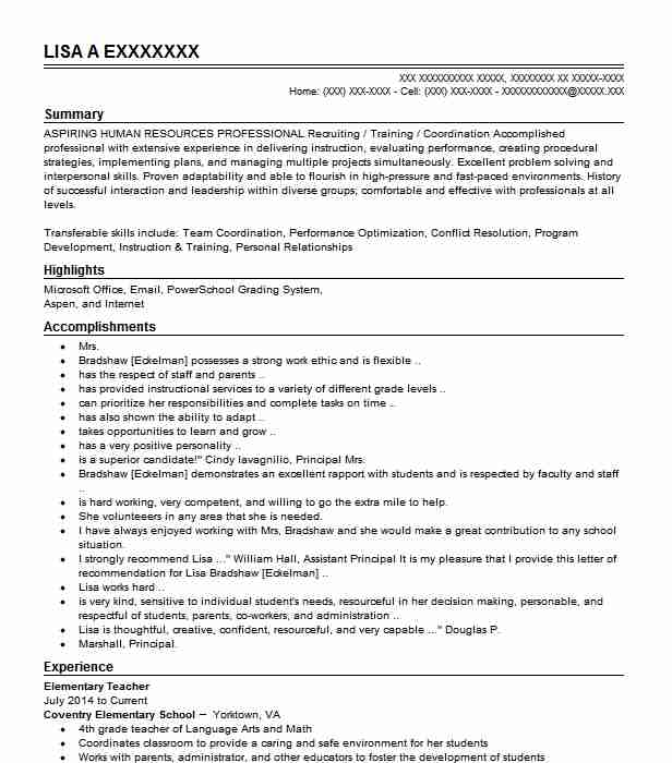 elementary resource teacher resume example glen community schools city room manager Resume Resource Room Teacher Resume
