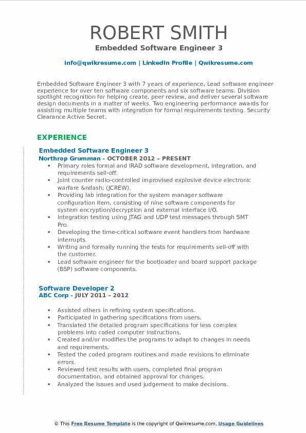 embedded software engineer resume samples qwikresume amazing resu objective examples job Resume Resume Format For Software Engineer