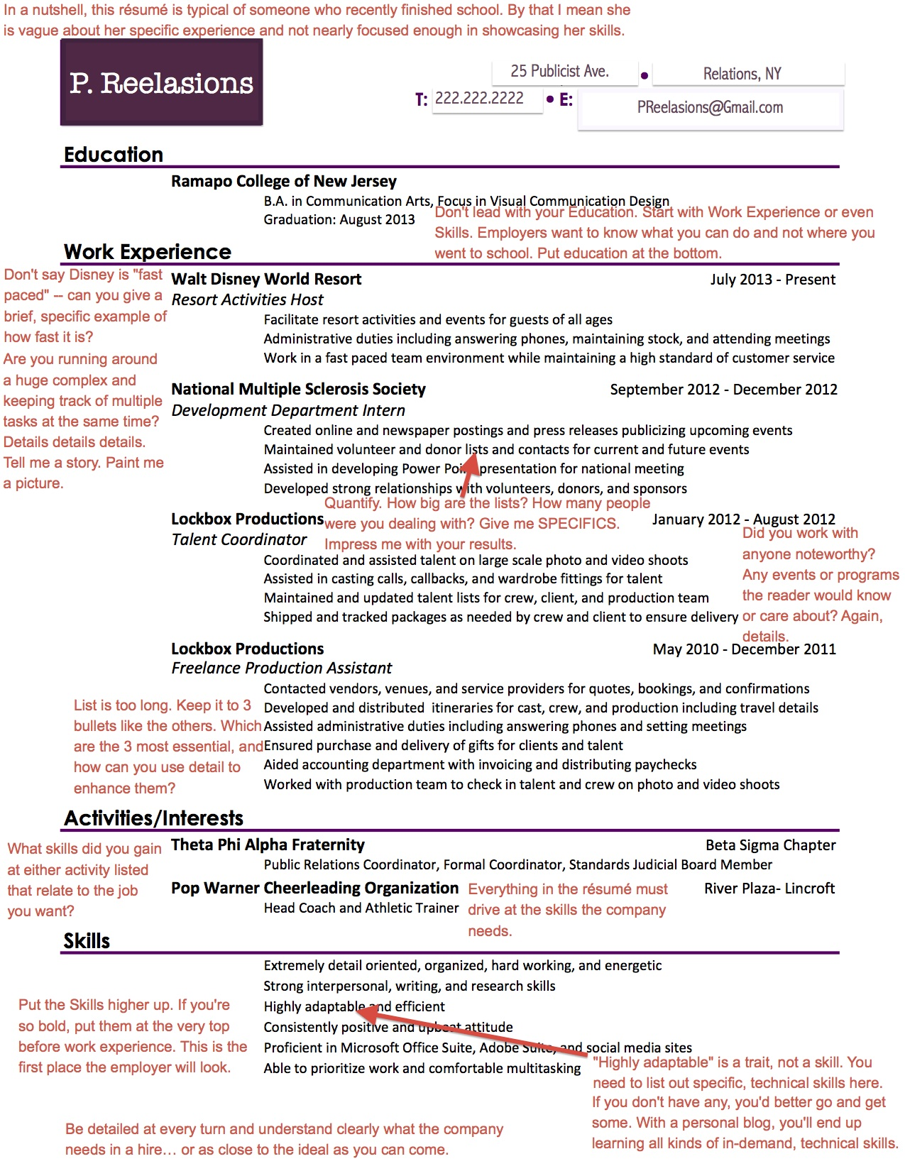 employers are looking for on your pr résumé aftercollege public relations student Resume Public Relations Student Resume