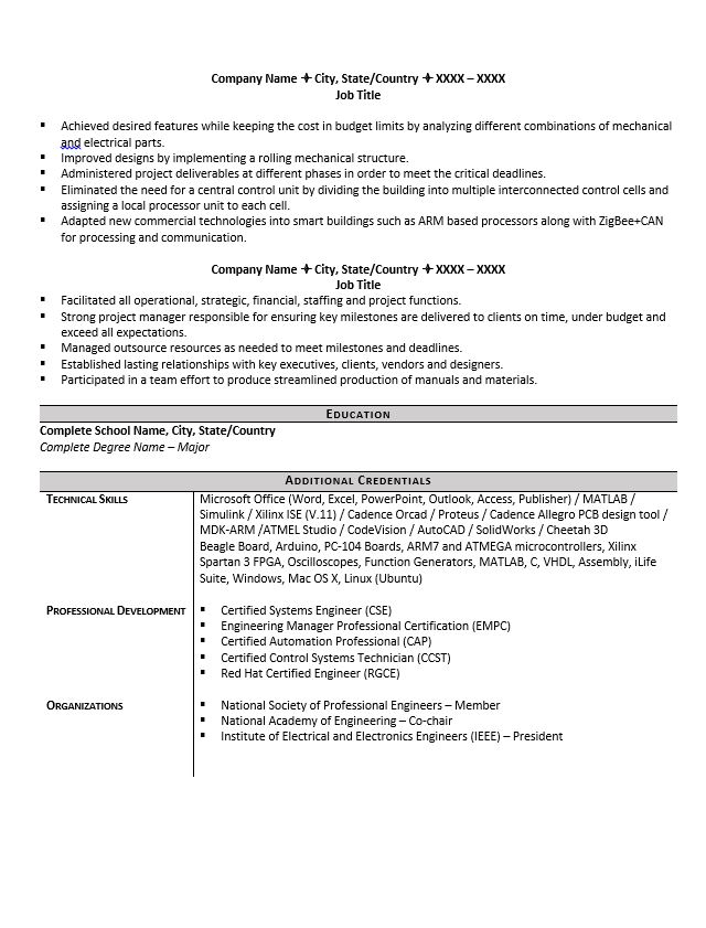 engineering resume example great tips to writing one system engineer format frank vogel Resume System Engineer Resume Format