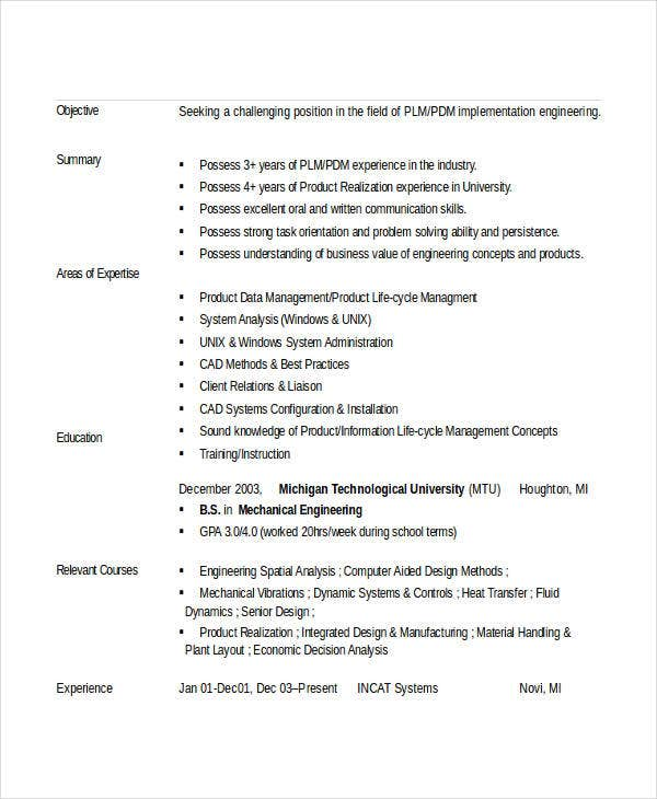 engineering resume template free word documents premium templates entry level mechanical Resume Entry Level Mechanical Engineering Resume
