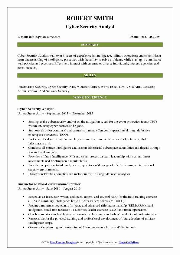 entry level cyber security resume with no experience inspirational analyst resum teacher Resume Entry Level Cyber Security Analyst Resume Sample