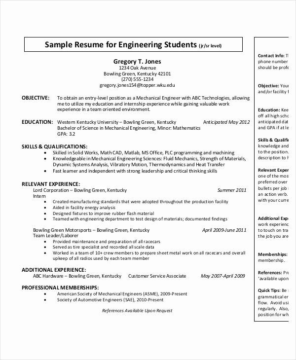 entry level engineer resume awesome free engineering templates word pdf documen Resume Entry Level Mechanical Engineering Resume