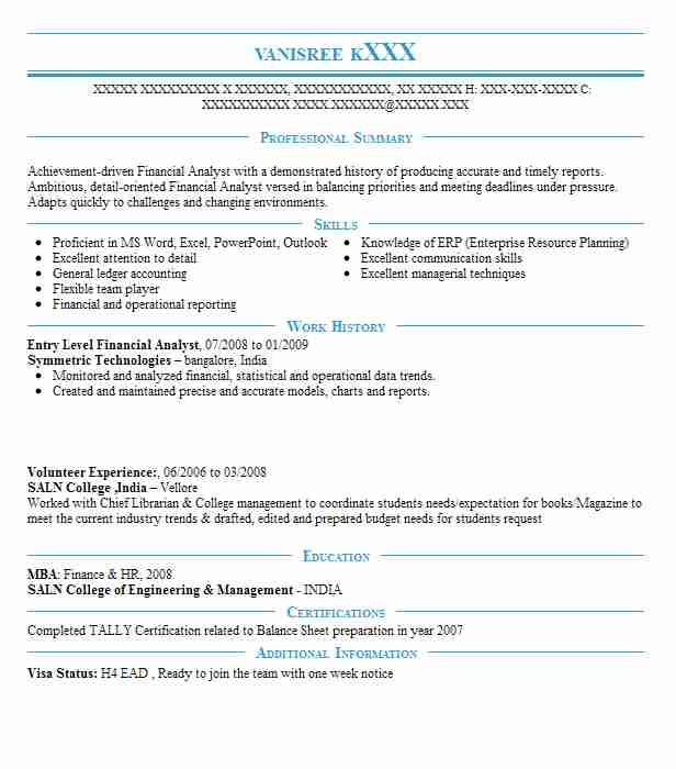 entry level financial analyst resume example livecareer sample for finance job cover Resume Sample Resume For Entry Level Finance Job