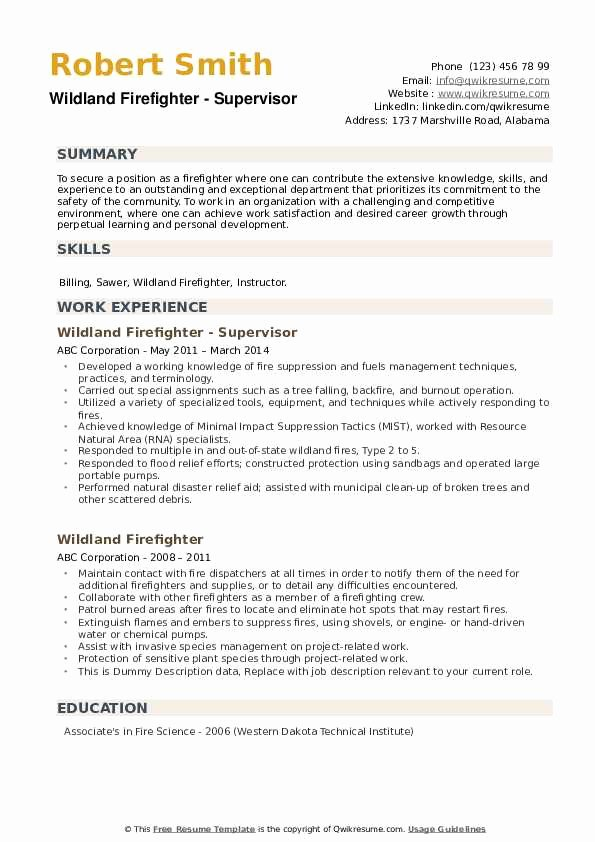 entry level firefighter resume elfaro examples luxury wildland samples of most updated Resume Firefighter Resume Examples