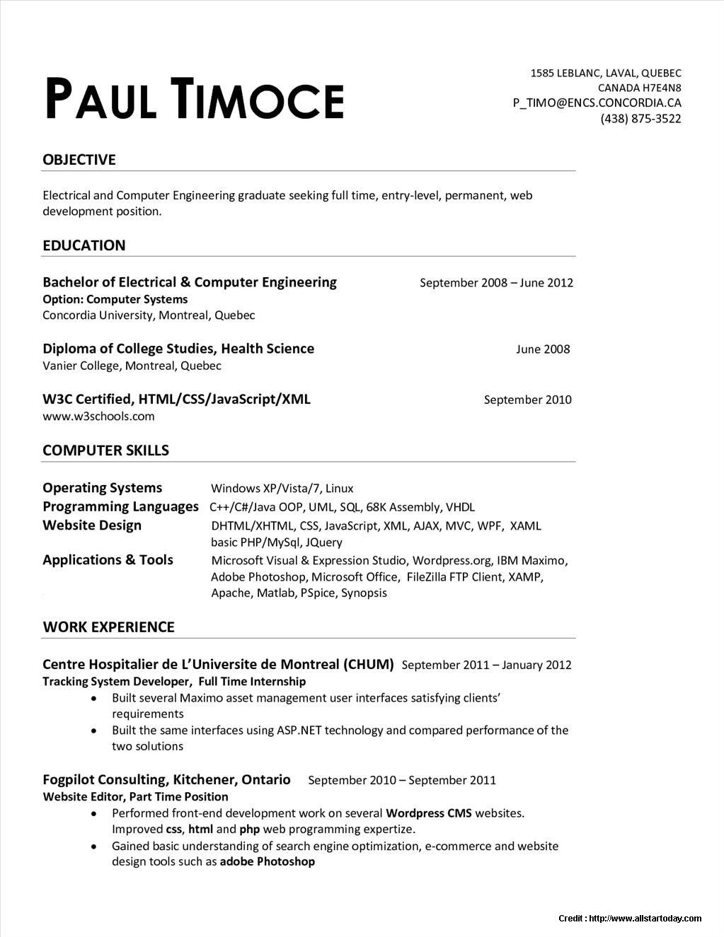 entry level mechanical engineering resume sample toyota builder law school template word Resume Entry Level Mechanical Engineering Resume