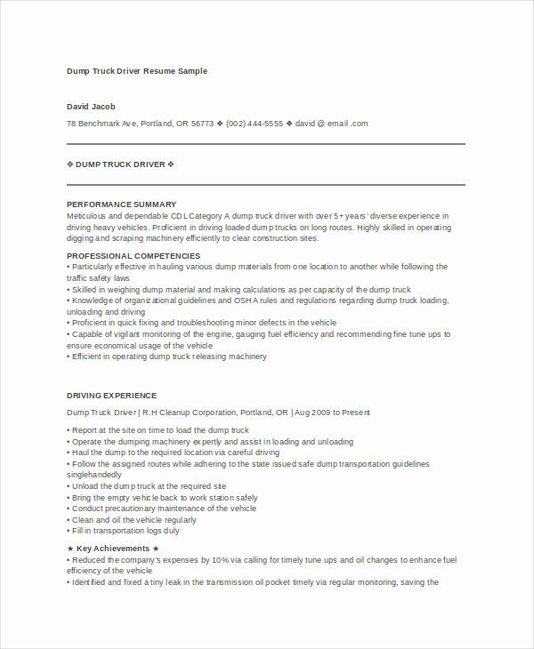 entry level truck driver resume unique templates pdf job samples examples objective Resume Entry Level Truck Driver Resume