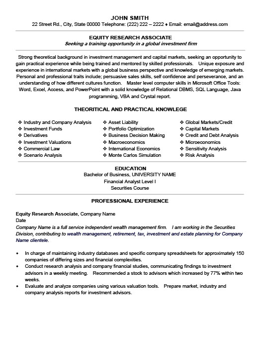 equity research associate resume template premium samples example clinical effective Resume Clinical Research Associate Resume Template