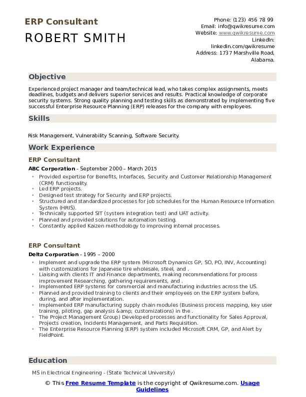 erp consultant resume samples qwikresume implementation format pdf financial analysis Resume Erp Implementation Consultant Resume Format