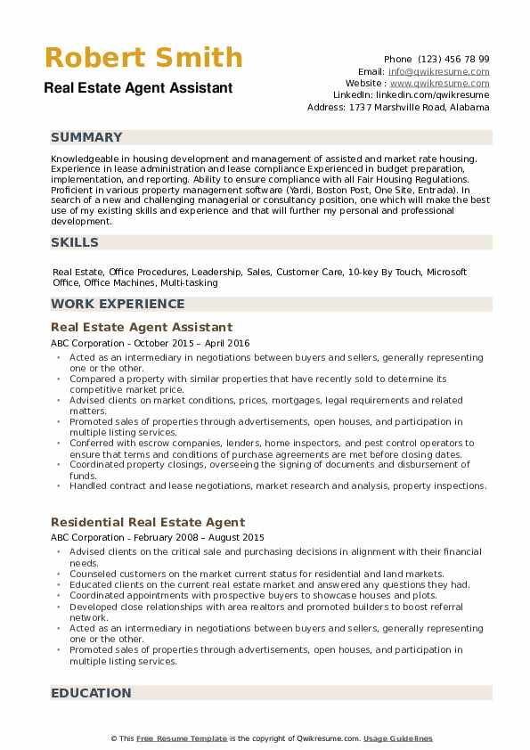 estate agent resume samples qwikresume example pdf best word templates special security Resume Real Estate Resume Example
