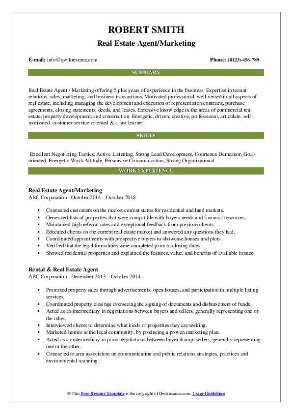 estate agent resume samples qwikresume example pdf special security officer career Resume Real Estate Resume Example