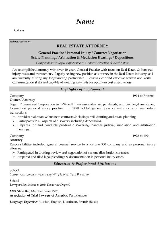 estate attorney resume example transactional sample legal5 monster professional writing Resume Transactional Attorney Resume