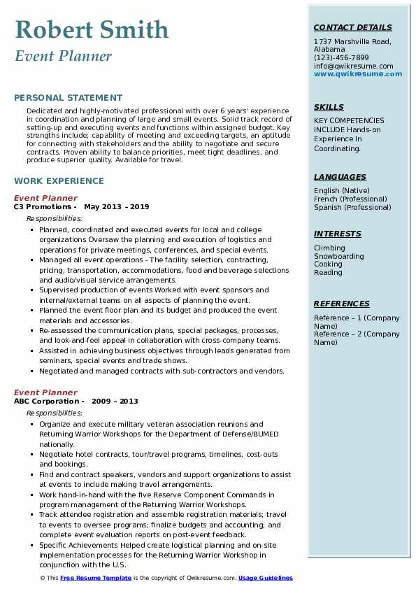 event planner resume samples qwikresume wedding objective pdf property claims adjuster Resume Wedding Planner Resume Objective